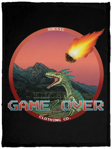 'Game Over' 30x40 Plush Fleece Blanket-Soesic Gaming