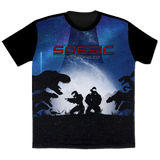 'Spartan Galaxy' Halo Inspired men's short sleeve gamer t shirt-Soesic Gaming