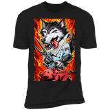 'Noob Feast' Men's Short Sleeve Gamer T-Shirt ~ Soesic Gaming Featuring Rene Fasola 'Spiral Artisan'-Soesic Gaming