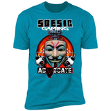 Adv0cate Men's Short Sleeve T Shirt ~ Adv0cate as a Featured Streamer for Soesic Gaming-Soesic Gaming