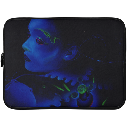 Sapphire Requiem sci fi/fantasy lap top cover made by Spiral Artisan artist Rene Fasola as a featured artist for Soesic Gaming