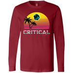 Critical Hit (dark) men's long sleeve gamer t shirt-Soesic Gaming