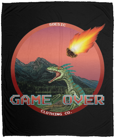 'Game Over' 50x60 Plush Fleece Blanket-Soesic Gaming