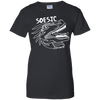 White on Black | Soesic Raptor Ladies' T-Shirt