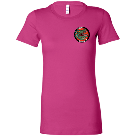 Old School Soesic Raptor Logo (left chest design) women's short sleeve t shirt-Soesic Gaming