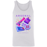 Retro Arsenal men's gamer tank top-Soesic Gaming
