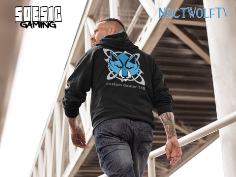 'NoctWolf Guild' CUSTOMIZABLE Hoodie ~ NoctWolf as a Featured Streamer for Soesic Gaming-Soesic Gaming