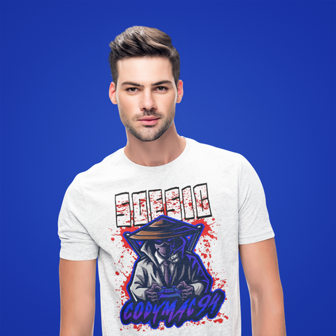 CodyMac94 Streamer Logo Men's Short Sleeve Gamer T Shirt-Soesic Gaming