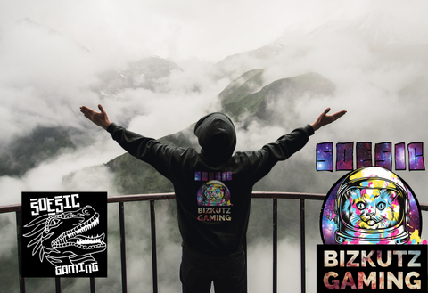 Bizkutz Gaming Zip Up Hoodie ~ Bizkutz Gaming as a Featured Streamer for Soesic Gaming-Soesic Gaming