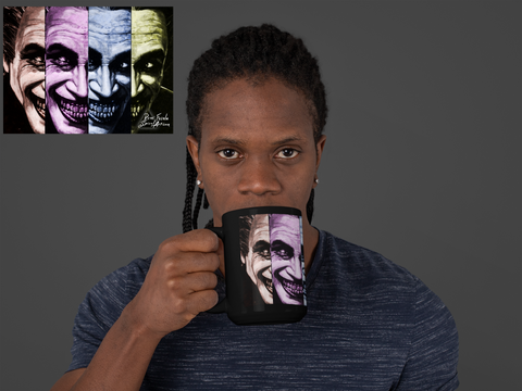 'The Mug Who Laughs' 15oz Coffee Mug / Tea Mug ~ Soesic Gaming Featuring Rene Fasola 'Spiral Artisan'-Soesic Gaming