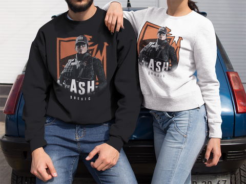 'R6S Ash Badge' Rainbow Six Siege Inspired Crewneck Gamer Sweatshirt-Soesic Gaming