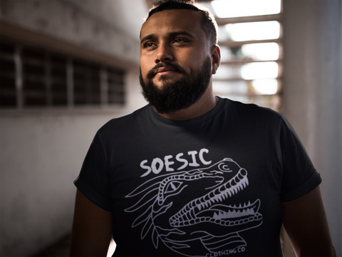 Soesic Raptor - White Raptor - men's short sleeve t shirt-Soesic Gaming