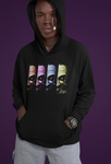'The Sweatshirt Who Laughs' fleece lined cotton/poly hoodie made by Spiral Artisan's Rene Fasola in collaboration with Soesic Gaming