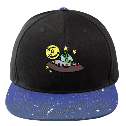 'Soesic of Humans' Galaxy Flat Bill Hat-Soesic Gaming