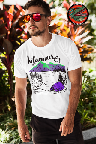 ItsInfamousG 'Camp' Men's Short Sleeve T Shirt ~ ItsInfamousG as a Featured Streamer for Soesic Gaming-Soesic Gaming