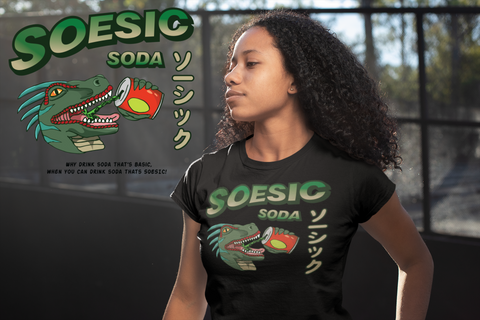 Soesic Soda Ad Women's Short Sleeve T Shirt-Soesic Gaming