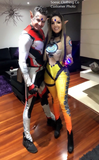 Overwatch Tracer Costume Cosplay Bodysuit / Jumpsuit For Women