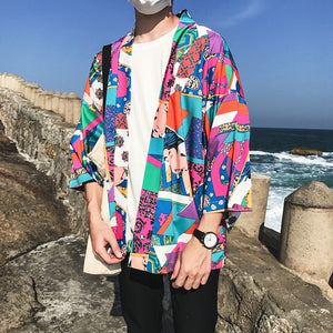 Japanese Style Kimono Jacket-Panda Clothing Company-Clear-S-Panda Clothing Company