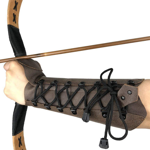 ArcheryMax Cow Leather Archery Arm Guard-free shipping