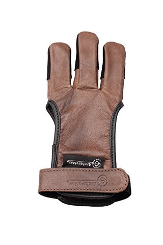 Leather 3 Finger Archery Glove-free shipping
