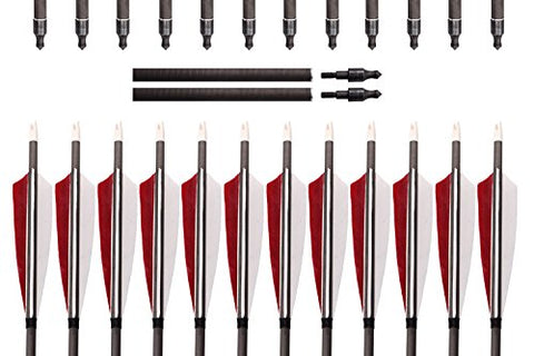 Archery Target Carbon Arrows 12 Pcs-free shipping