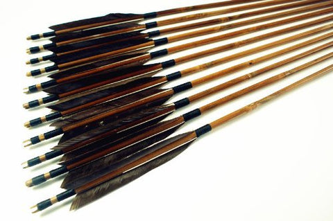Japan Self Nock Bamboo Arrows For YUMI Bow-free shipping