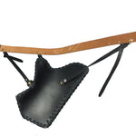 Black Cow leather Side Quiver for Horseback Archery-free shipping