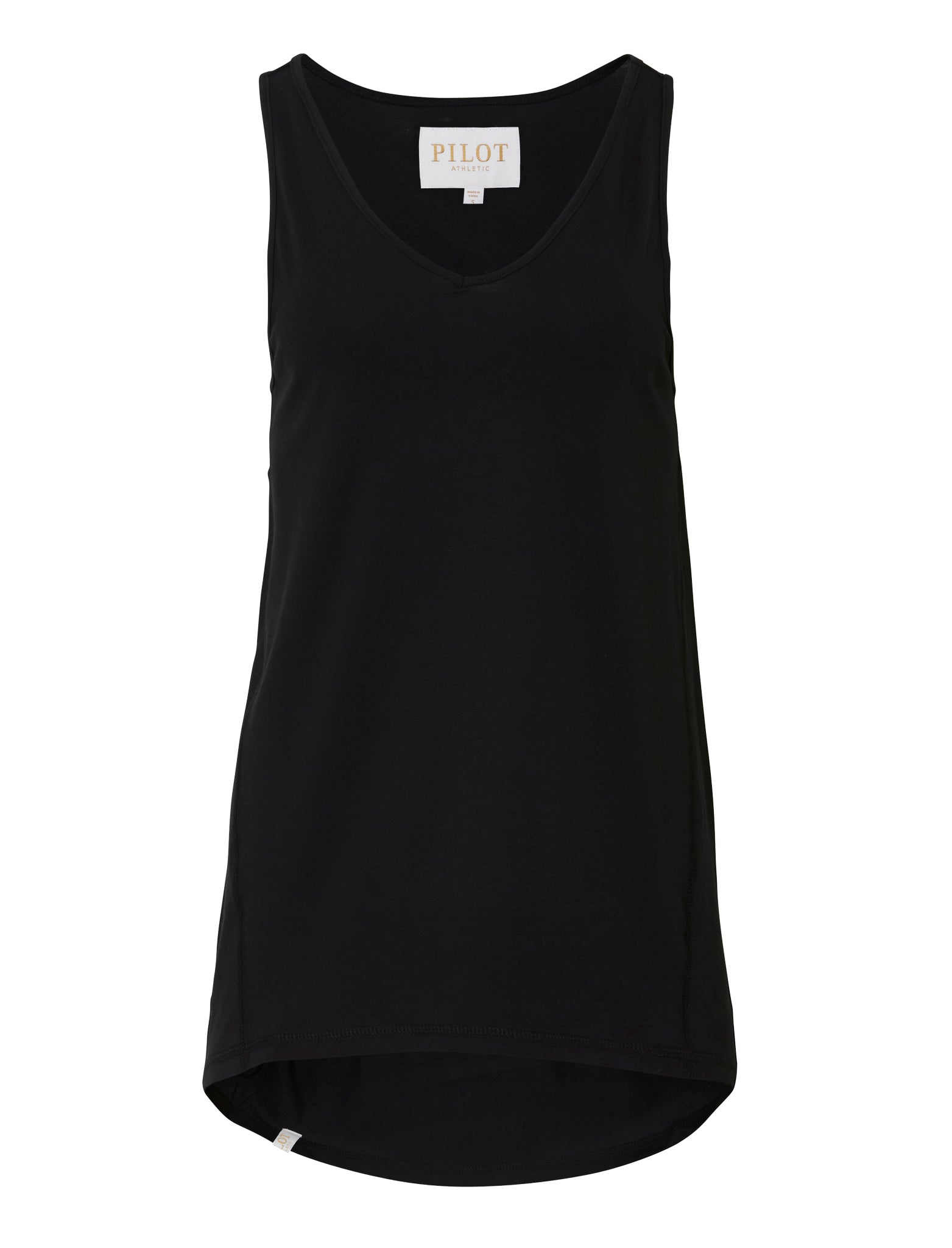 PEGGY V-NECK SINGLET - BLACK
