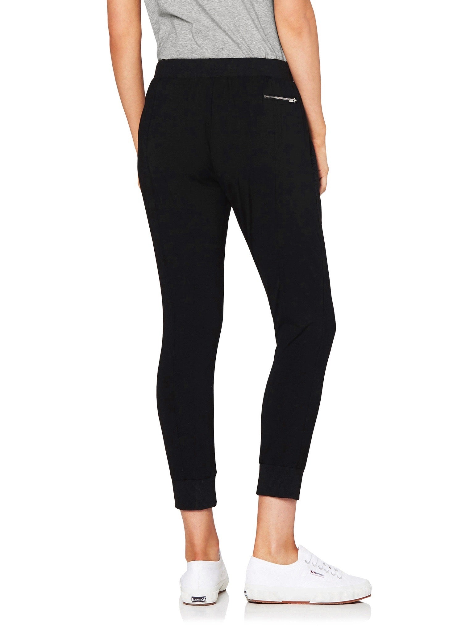 LILLY 3/4 MESH POCKET PANT - BLACK