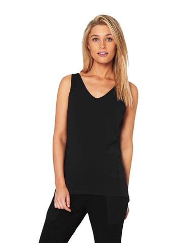 JACQUELINE HIGH-NECK SINGLET - BLACK LEOPARD