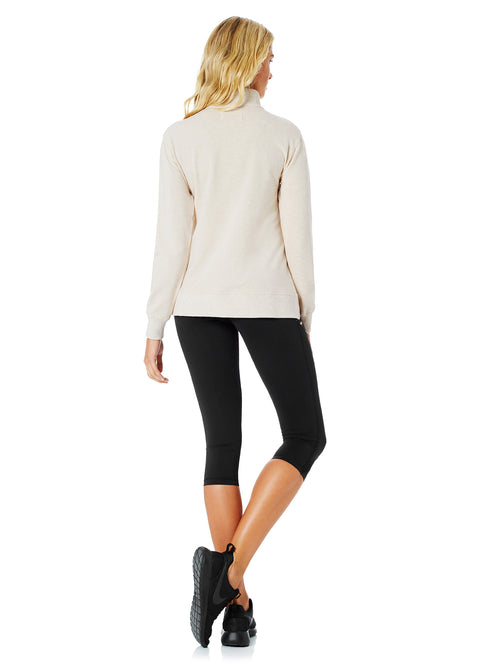 TAYLOR BUTTONED SWEATER - NATURAL MARLE