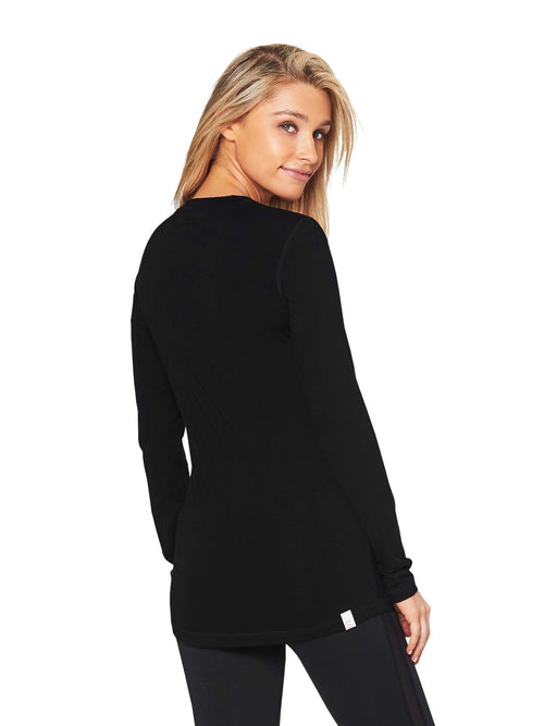 LORES LONG SLEEVE SPORT MESH TEE - BLACK
