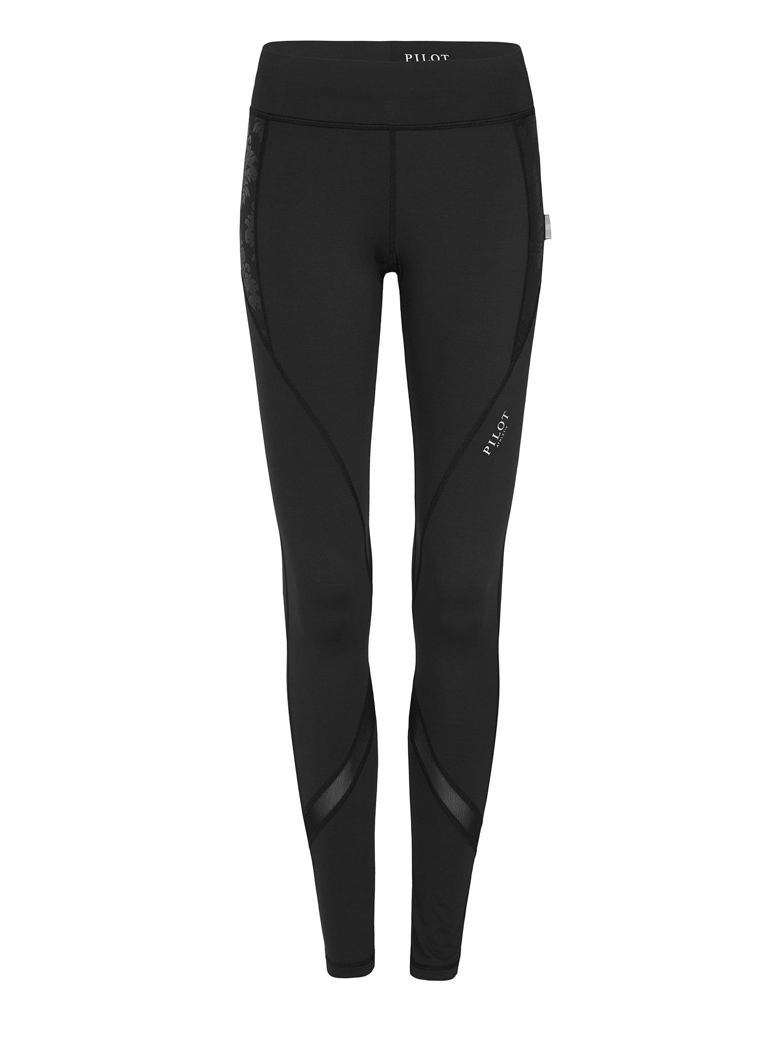 AVIATRIX FULL LENGTH BLACK FLORAL MESH TIGHT