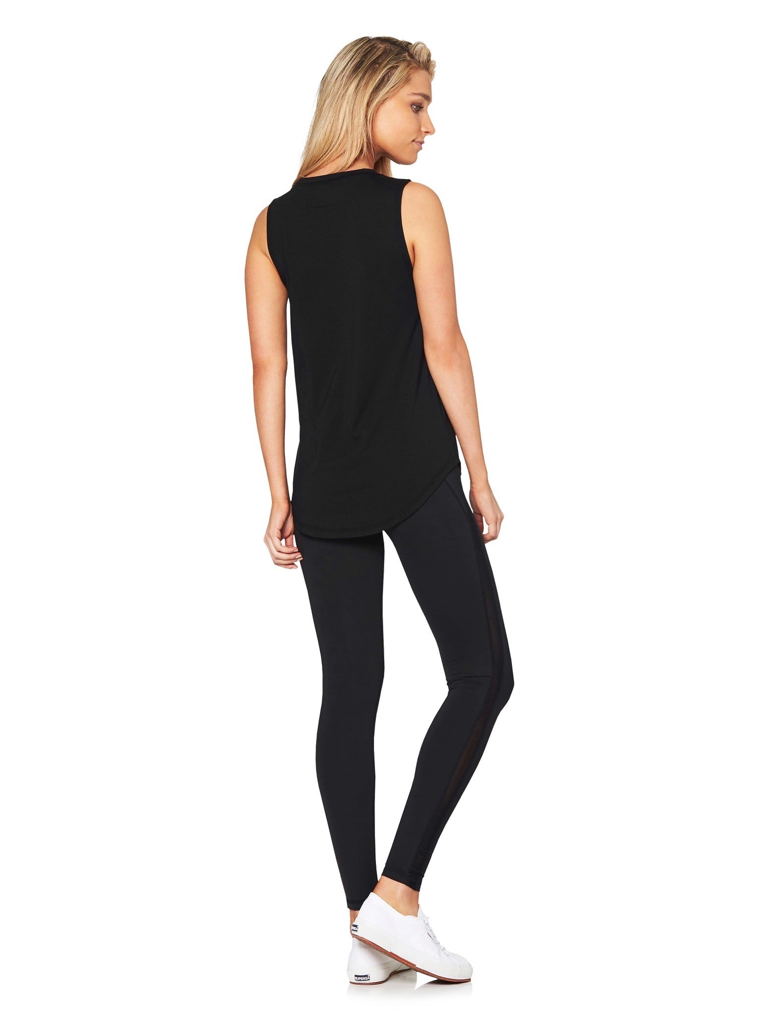 HARKNESS LUXE MUSCLE TEE - BLACK