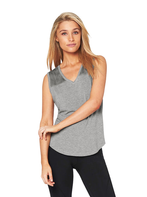 RICHEY MESH MUSCLE TEE - GREY