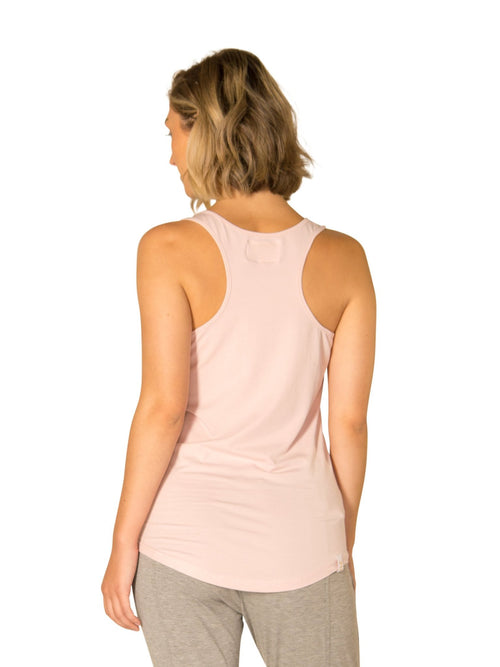 AMY POCKET SCOOP TANK - ROSE GOLD