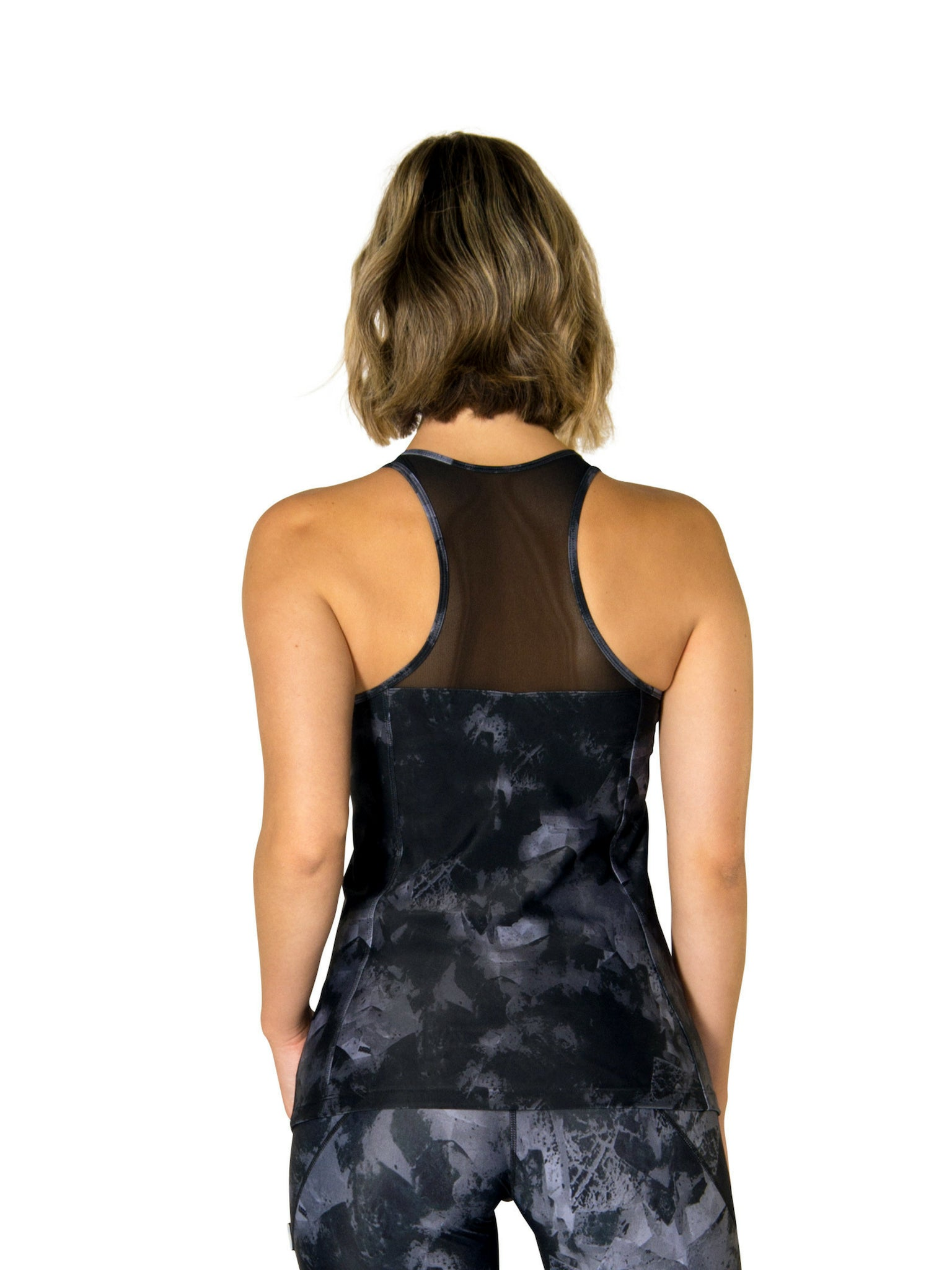 BILLIE BLACK CUMULUS MESH SINGLET