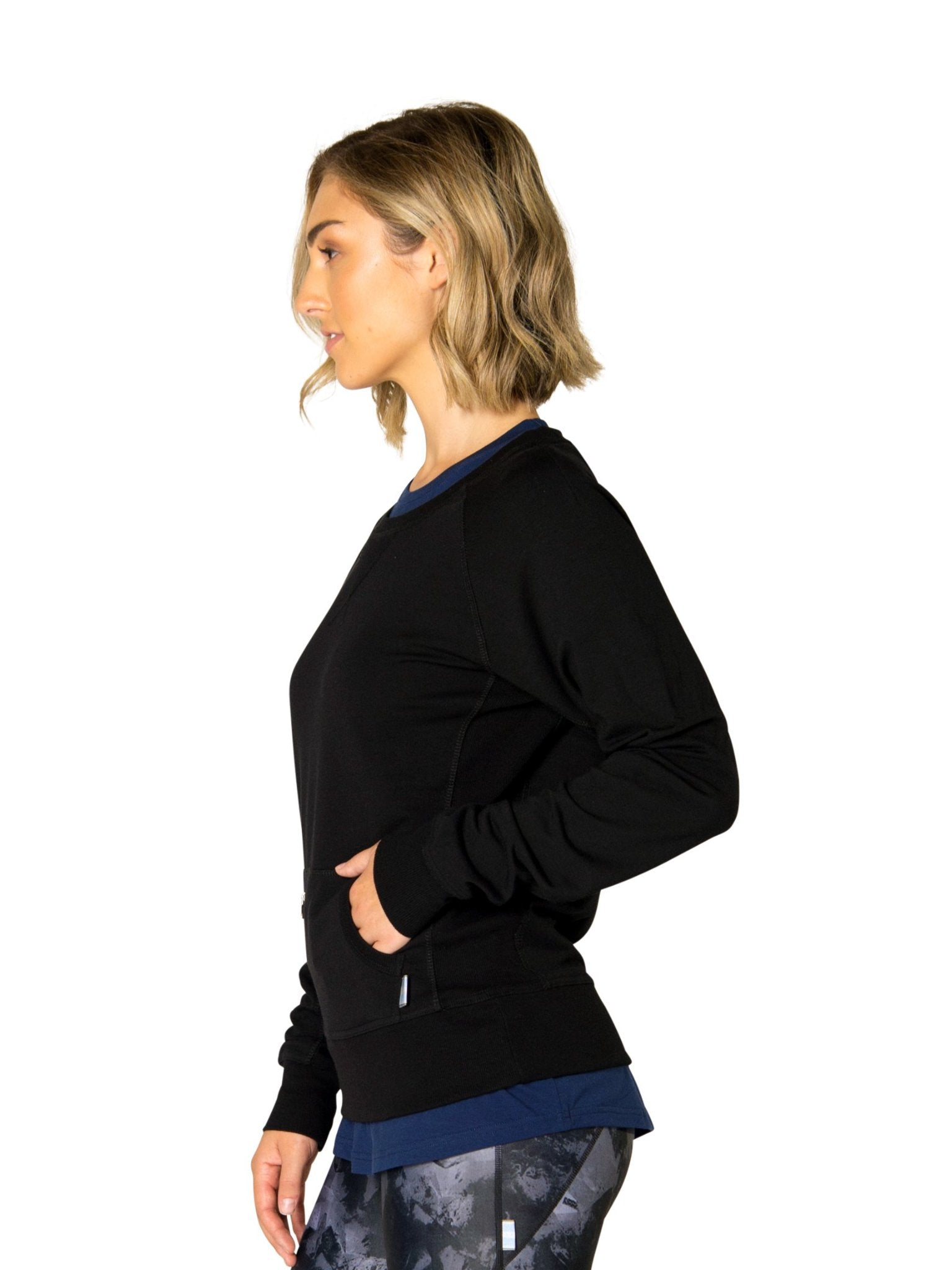 HARRIET CREW NECK SWEATER - BLACK
