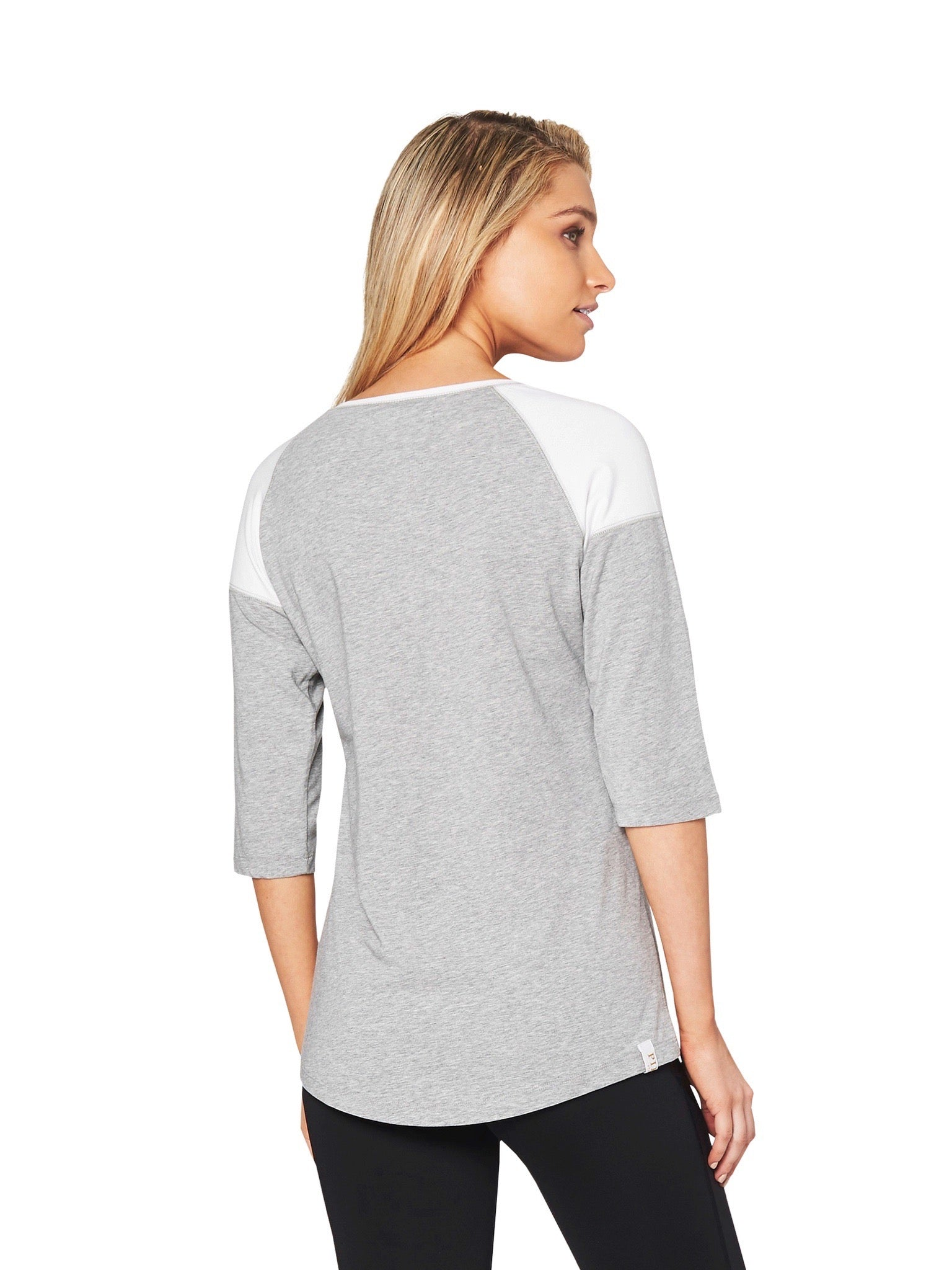 ELINOR RAGLAN 3/4 TEE - GREY