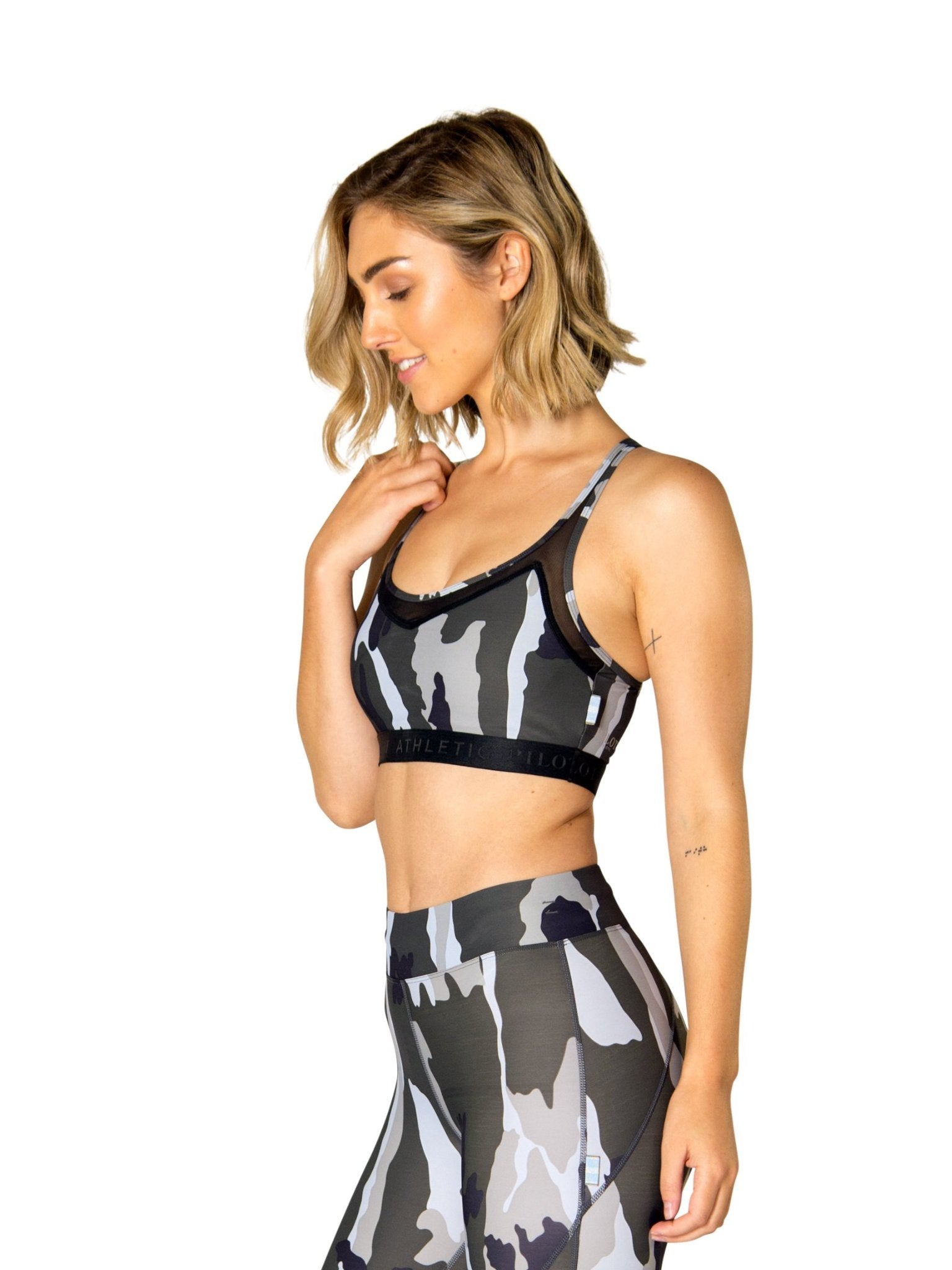 BILLIE CAMO MESH CROP