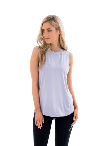 JACQUELINE HIGH NECK SINGLET - BLUE