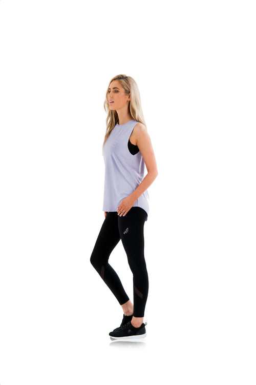 HARKNESS LUXE MUSCLE TEE - LAVENDER