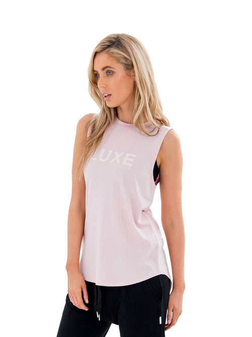 HARKNESS LUXE MUSCLE TEE - PINK
