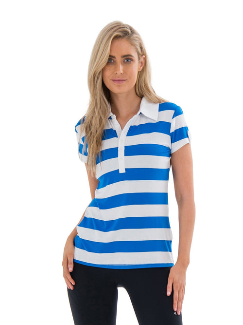COLEMAN STRIPED POLO - ROYAL BLUE