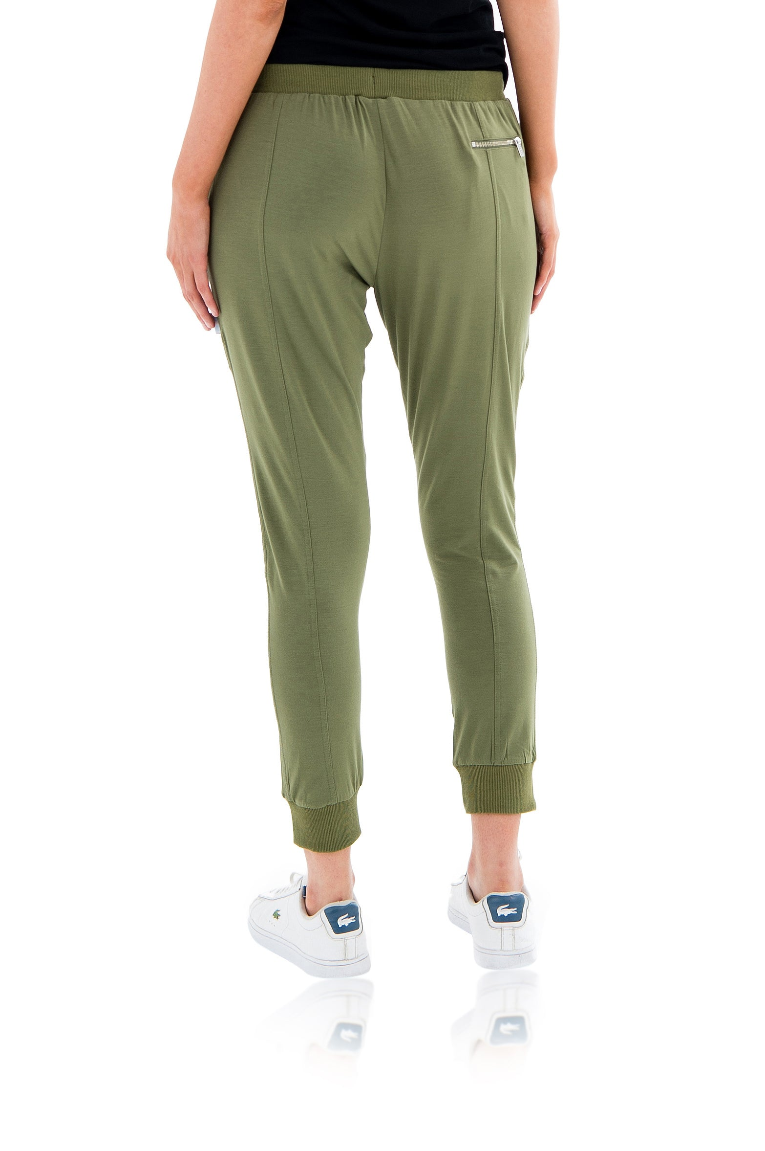 LILLY LOUNGE CAPRI PANT - ARMY GREEN