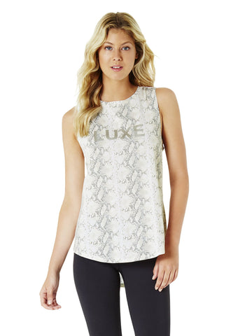 JACQUELINE HIGH NECK SINGLET - BLACK (Black Print)
