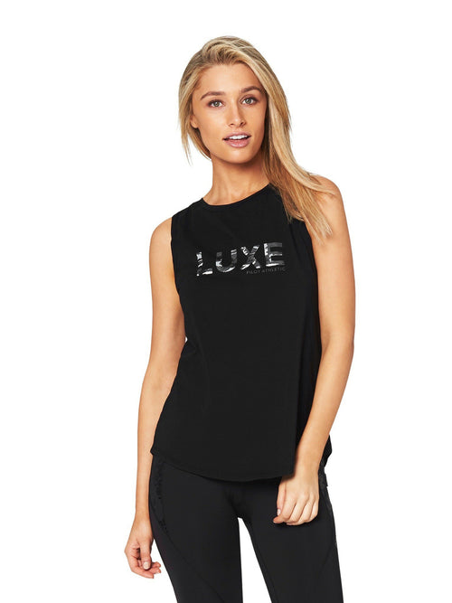 HARKNESS 'CAMO LUXE' MUSCLE TEE - Black