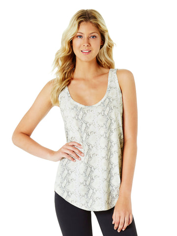 PEGGY V-NECK HONEYCOMB SINGLET - WHITE