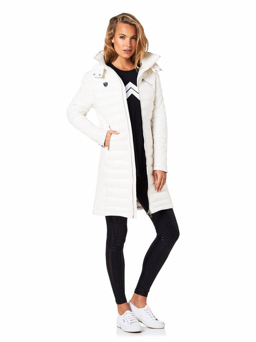 FLORENCE BIKER PUFFER TRENCH - WHITE