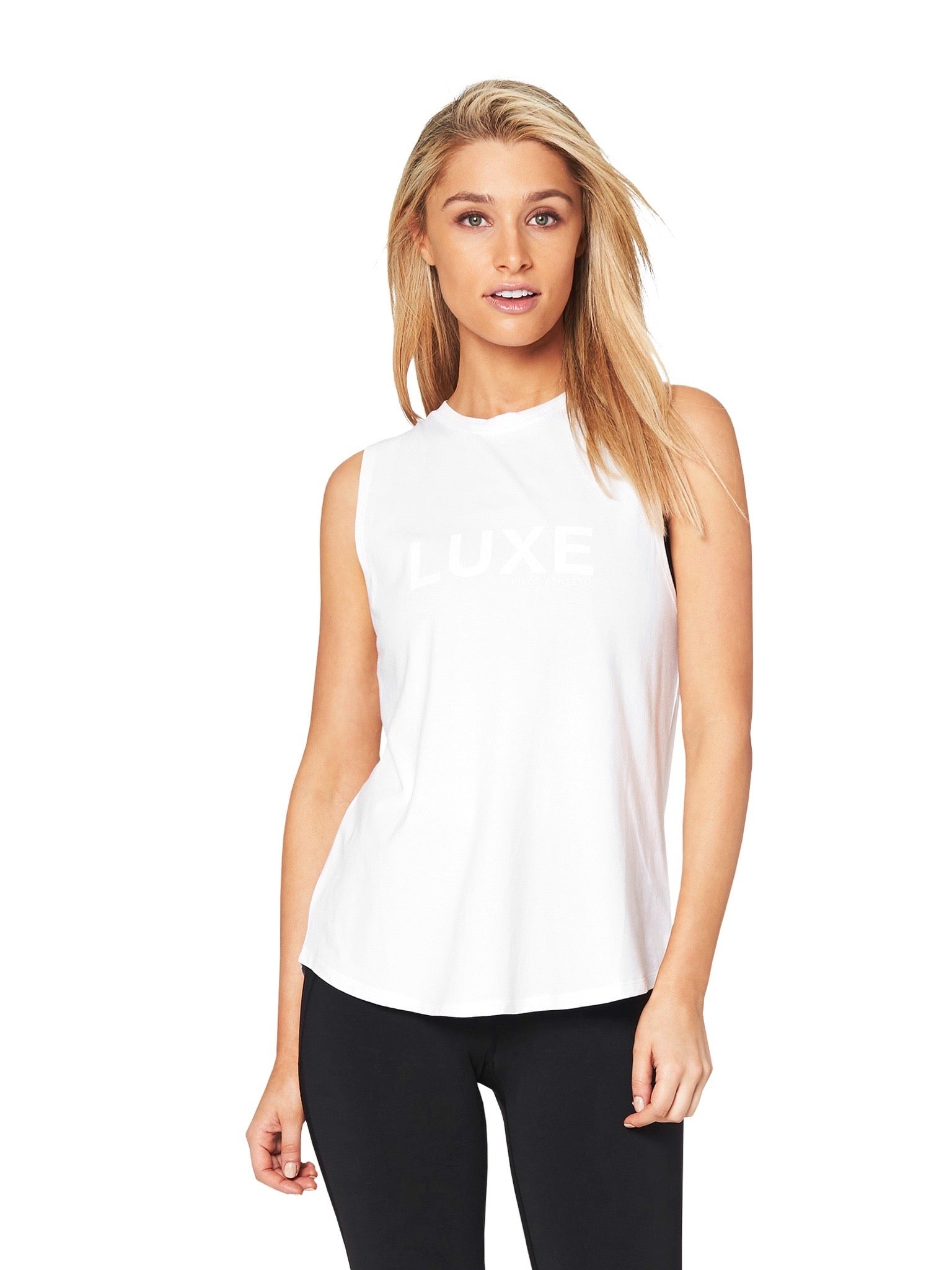 HARKNESS LUXE MUSCLE TEE - WHITE